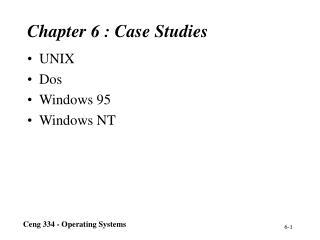 Chapter 6 : Case Studies