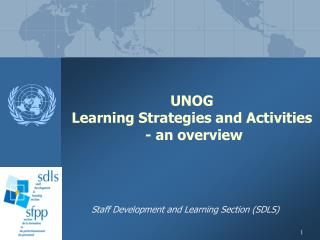 UNOG  Learning Strategies and Activities    - an overview