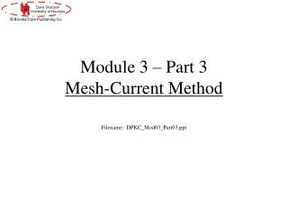 Module 3 � Part 3 Mesh-Current Method