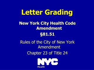 Letter Grading