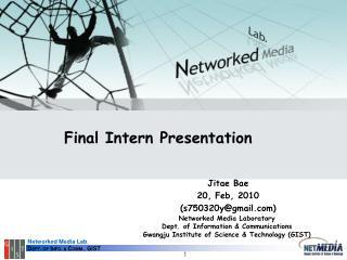 Final Intern Presentation