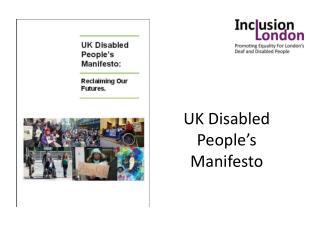UK Disabled People's Manifesto