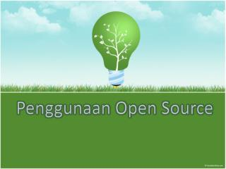 Penggunaan Open Source