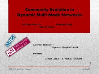 Community Evolution in Dynamic Multi-Mode Networks