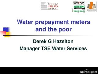 Water prepayment meters and the poor