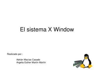 El sistema X Window