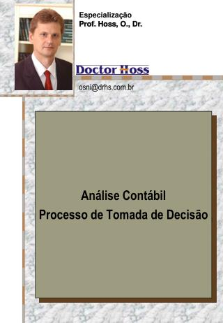 An�lise Cont�bil  Processo de Tomada de Decis�o