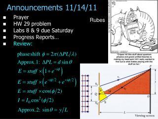 Announcements 11/14/11