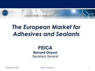 The European Market for Adhesives and Sealants