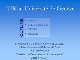 T2K at Université de Genève