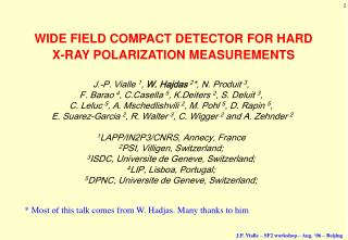 WIDE FIELD COMPACT DETECTOR FOR HARD  X-RAY POLARIZATION MEASUREMENTS