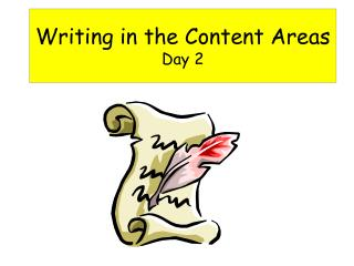 Writing in the Content Areas Day 2