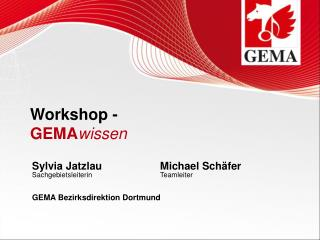 Workshop - GEMA wissen