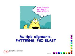 Multiple alignments,  PATTERNS, PSI-BLAST