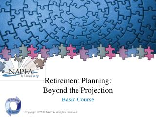 Retirement Planning: Beyond the Projection