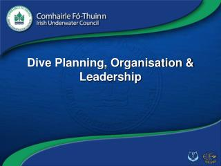 Dive Planning, Organisation & Leadership