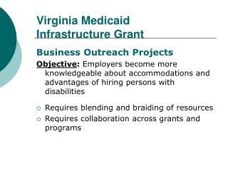 Virginia Medicaid Infrastructure Grant
