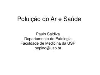 Polui��o do Ar e Sa�de