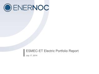 ESMEC-ET Electric Portfolio Report
