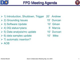 FPD Meeting Agenda