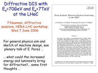 Diffractive DIS with E e =70GeV and E p =7TeV  at the LHeC