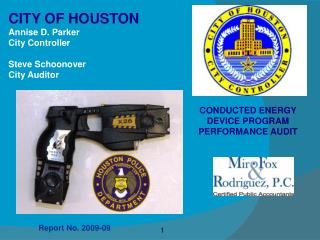 CONDUCTED ENERGY DEVICE PROGRAM PERFORMANCE AUDIT