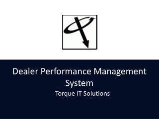 Dealer Performance Management System