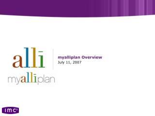 myalliplan Overview