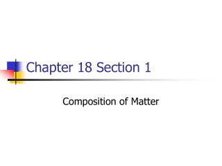 Physical and Chemical Properties Chapter 9