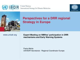 Perspectives for a DRR regional Strategy in Europe