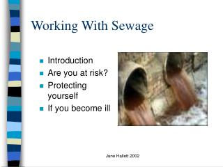 Working With Sewage