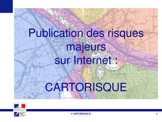 Publication des risques majeurs  sur Internet : CARTORISQUE