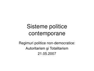 Sisteme politice contemporane