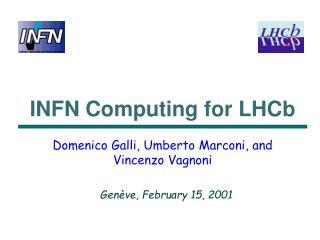 INFN Computing for LHCb