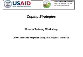 Coping Strategies Woreda Training Workshop