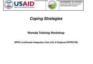 Coping Strategies Woreda Training Workshop