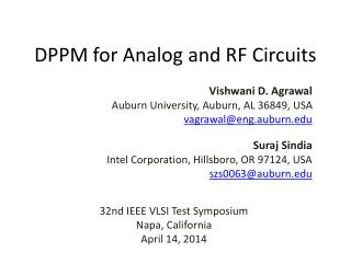 DPPM for Analog and RF Circuits