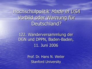 Hochschulpolitik  Made in USA Vorbild oder Warnung für Deutschland?