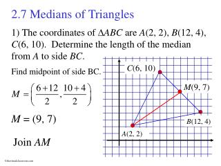 2.7 Medians of Triangles