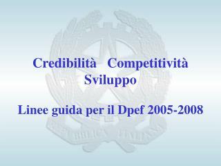 Credibilità   Competitività   Sviluppo