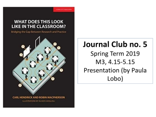 Ten Steps to Developing a Successful  Journal Club