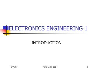 ELECTRONICS ENGINEERING 1