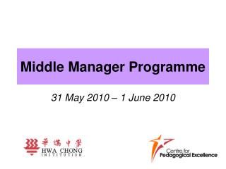 Middle Manager Programme