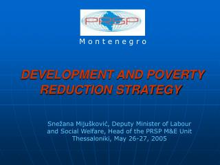 DEVELOPMENT AND POVERTY REDUCTION STRATEGY