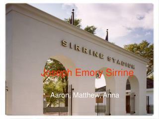Joseph Emory Sirrine