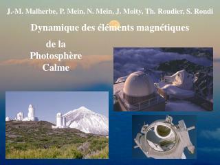 J.-M. Malherbe, P. Mein, N. Mein, J. Moity, Th. Roudier, S. Rondi