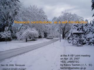 Nov. 28, 2006 Vancouver  –result of climatic change?