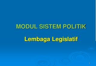 MODUL SISTEM POLITIK