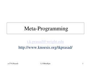 Meta-Programming