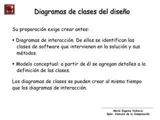 Diagramas de clases del dise�o
